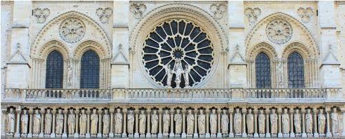 gallery of kings, notre-Dame de Paris.