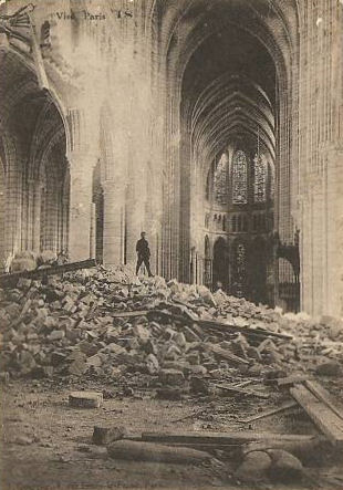 soissons cathedral subsidiary page to germans in france