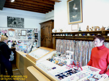 Gift shop at Bartres, in a house where Bernadette stayed at times  during her childhood
