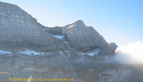 Near the Pass de Roland, Gavarnie - the remaining glacier