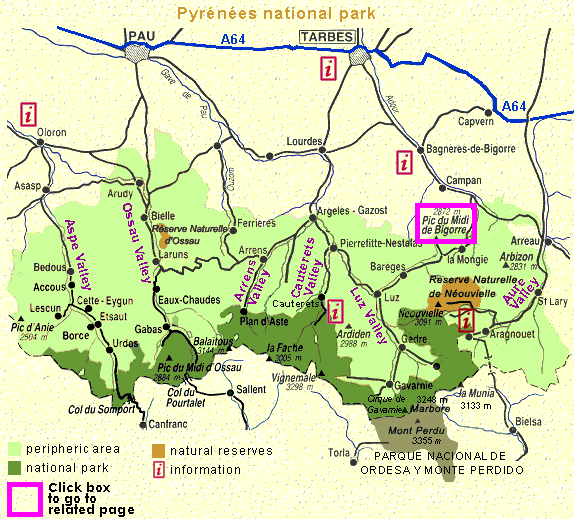 Map - Pyrenees National Park