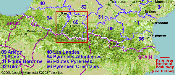 Map Of France Mountains.The Pyrenees Mountain Range France Zone At Abelard Org
