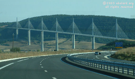 The Viaduc De Millau From A75 Motorway