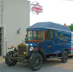 Delivery van for the Henriet Company, who owns the Biarritz cChocolate Museum