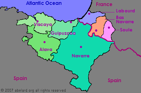 Basque France Map.Pyrenees Atlantiques France Zone At Abelard Org