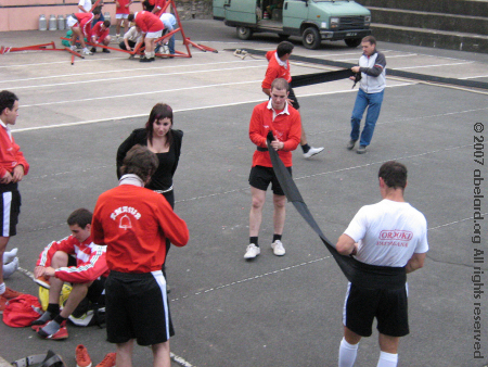 Basque Force team at Souraide: preparing for the tug-of-war