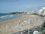 The Grand Plage, the main beach, at Biarritz.