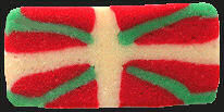 A touron bar as the Basque flag.