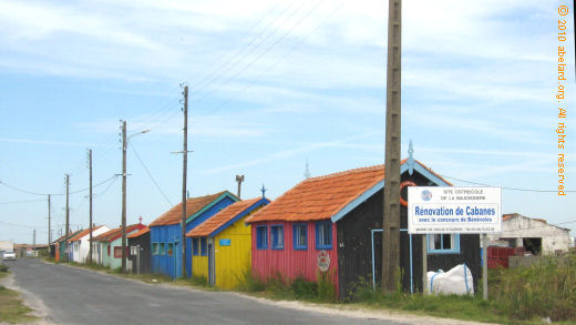 traditional oyster farmers' huts