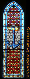 Stained glass in the church at Saint-Georges d'Oleron