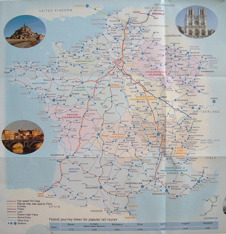 rail europe map