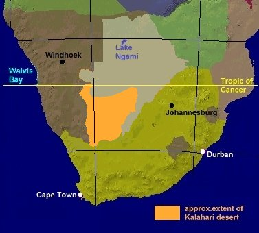 Kalahari Desert Africa Map Traffic Club