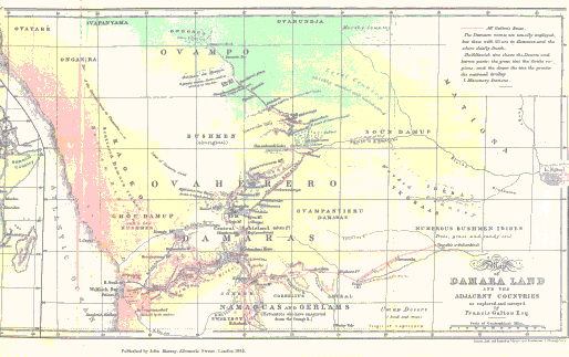 Map of Damara Land and the adjacent countries...