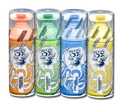 Canned oxygen in four 'flavours'. Credit: thebigox.com