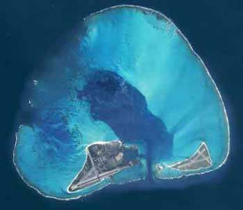 Aerial view of Midway Island. Credit: www.pbs.org