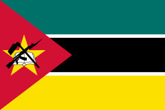 National flag of Mozambique.