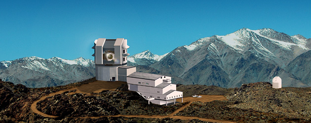 Large Synoptic Survey Telescope on Cerro Pachon, northern Chile [Artist's impression].Image: Michael Mullen Design, LSST Corporation