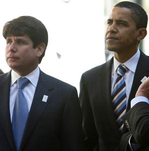 Barak Obama with Rod Blagojevich. Image: smh.com.au