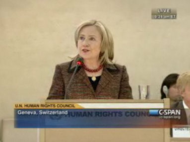 Hillary Clinton at the UN HRC, Geneva