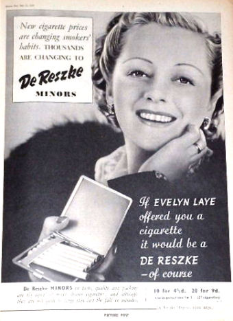 Advertised by Evelyn Laye (actress), who lived to 95