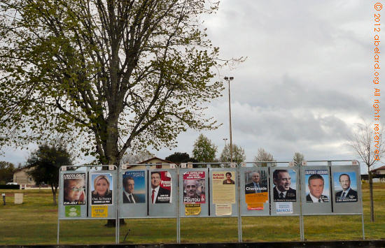 the official posters of the ten candidates