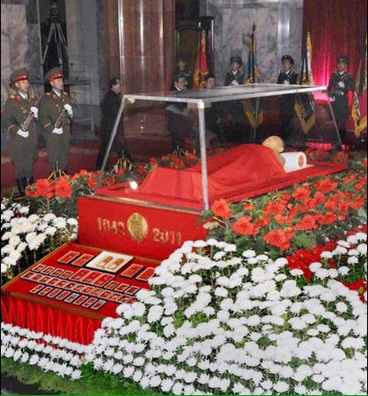 Kim Jong-il lying in state, North Korea