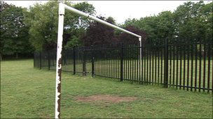 Tork council goalpost. Image: bbc.co.uk