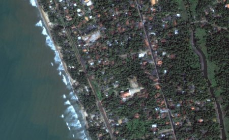 Before the tsunami hit a part of Sri Lanka. Image credit: digitalglobe.com