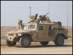 A HMMWV M1114 armored vehicle as used by Coalition forces in Iraq. Image credit: O'Gara-Hess & Eisenhart