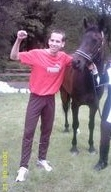 Huw Lobb and the horse he beat