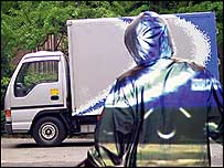invisible man on a van