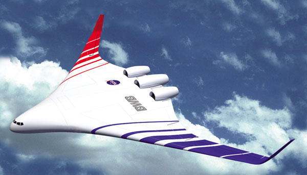 NASA blended wing -artist's impression. Image credit: NASA