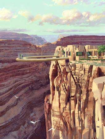 Glass-enclosed walkway proposed for the Grand Canyon. Image credit: Destination Grand Canyon
