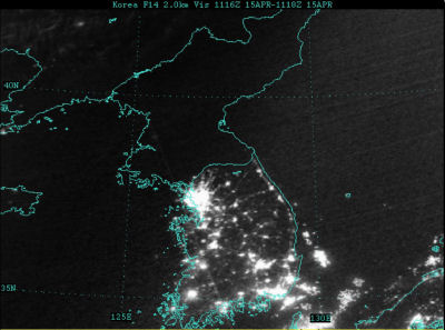satellite photo of Korea. Image credit: fas.org
