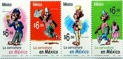 Memin Pinguin stamps from Mexico
