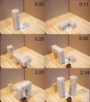 block robot reproducing itself. Image credit: Cornell University