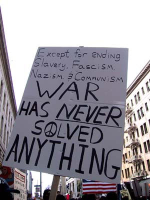 War has never solved anything, except ..... Image credit: blackfive.net