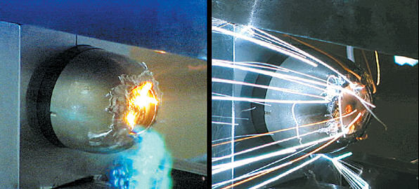 test-firing of solid-state laser. Image credit: Lawrence Livemore National Laboratory