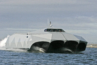 Stiletto M-hull steath boat. Image credit: mshipco.com