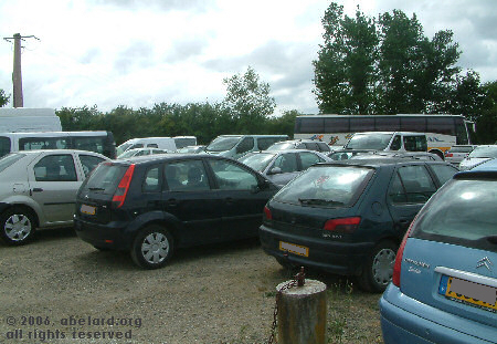 Public parking at the Nogaro racing circuit.