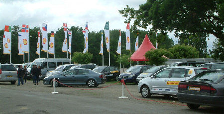 Shell courtesy car fleet at Nogaro, 2006
