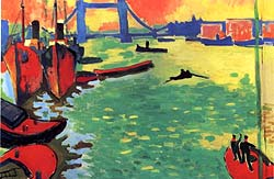 Tower Bridge and the Thames by Andre Derain. Image credit: ADAGP, Paris and DACS, London