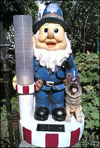 A police gnome. Image credit: Press Association