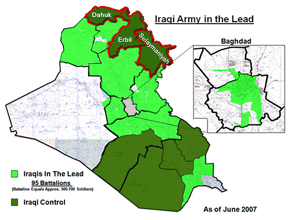 Iraq progress map. Image: US Department of Defense