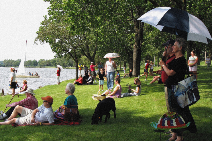 Second Impressionism - Saturday in the Park with Friends. Image credit: OldOnliner