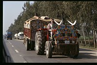 Decorated tractor in Pakistan. Credit: Peter Grant Photography