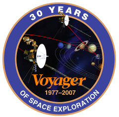 Voyager mission commemorative badge. Image credit: NASA/JPL.