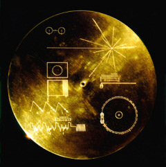 Voyager's two-sided message disk. Image credit: NASA/JPL