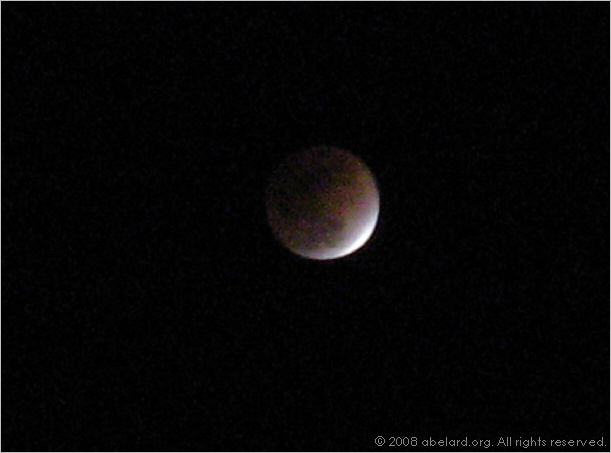 The February 2008 lunar eclipse, 02:53 GMT/UT.